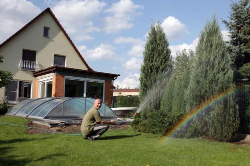 Mein Mann holt mir einen Regenbogen vom Himmel