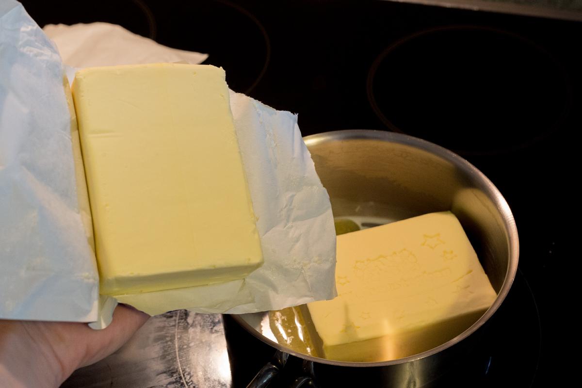 500g flüssige Butter