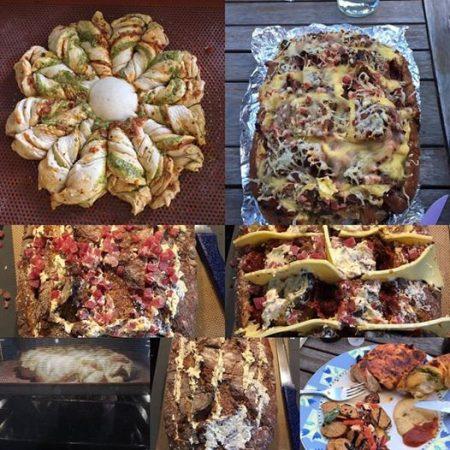 Pestoblume und Haselback Brot